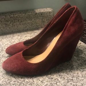 Jessica Simpson Suede Wedge Heel